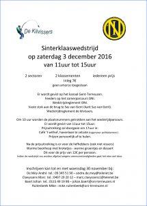 Sinterklaaswedstrijd 2016