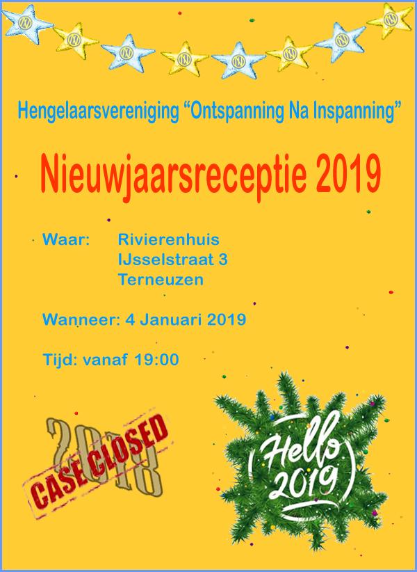 Poster Nieuwjaarsreceptie 2019