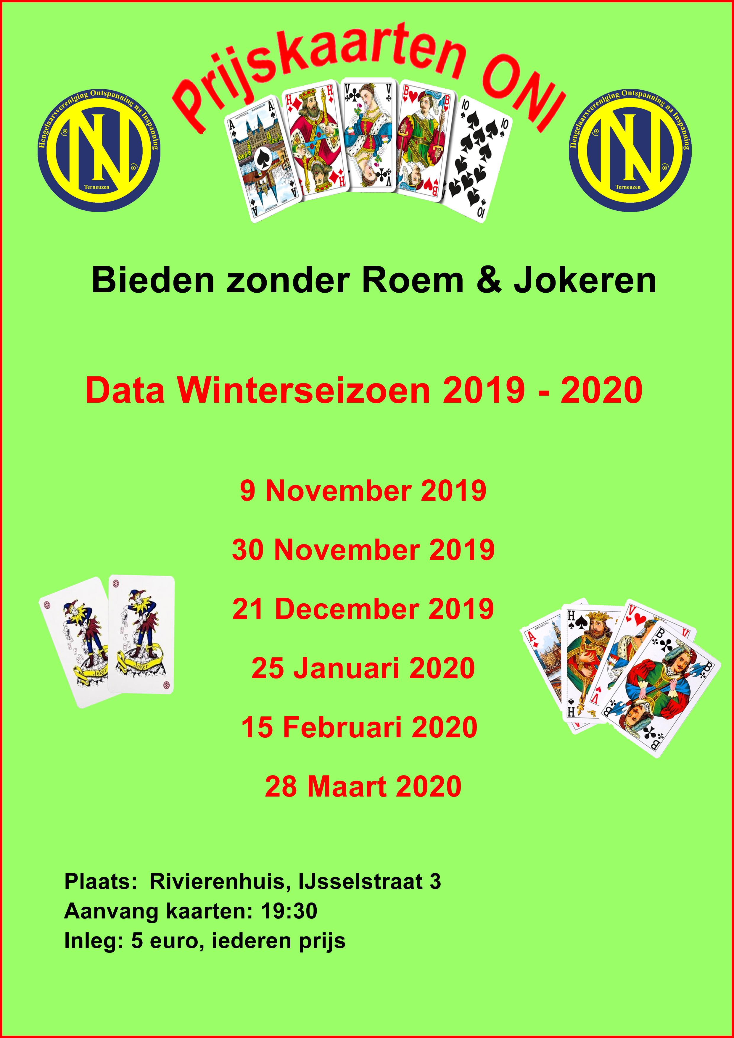 Data Kaarten ONI 2019-2020